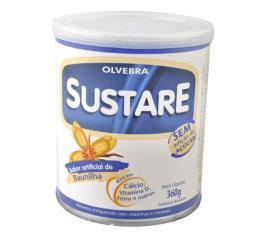 Sustare Olvebra sabor baunilha sem açúcar 360g