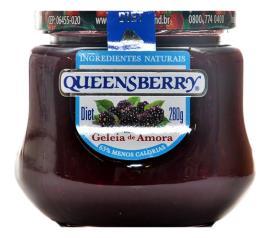 Geléia Queensberry sabor amora diet 280g