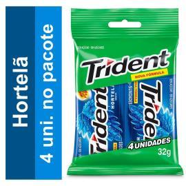 Goma de mascar Trident Hortelã (4 Unidades) 32g