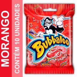 Chiclete Bubbaloo sabor morango com 10 unidades 50g