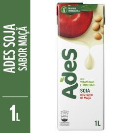 Bebida de soja Ades sabor maçã 1L