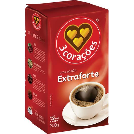 Café 3 Corações a vácuo extra forte 250g - Imagem em destaque