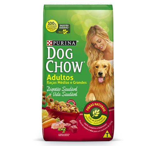 Ração para cães Dog Chow adulto raças de porte médio e grande 3kg - Imagem em destaque