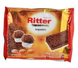 Barra de cereais Ritter sabor brigadeiro 66g
