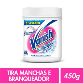 Alvejante em pó Vanish White sem cloro Oxi Action crystal white 450g