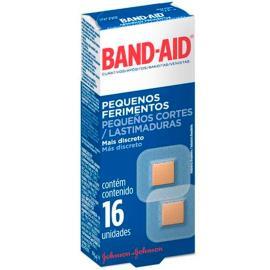 Curativo Band-Aid pequeno ferimentos com 16 unidades