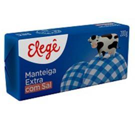 Manteiga Elegê extra com sal  tablete 200g