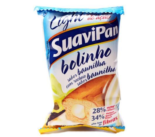 Bolinho Suavipan light sabor baunilha com recheio de baunilha 40g - Imagem em destaque