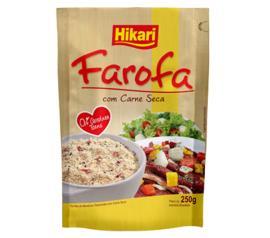Farofa de mandioca Hikari carne seca 250g