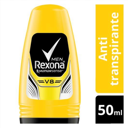 Desodorante Rexona antitranspirante roll on men V8 50ml - Imagem em destaque