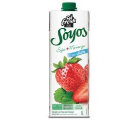 Alimento Soja Soyos Morango 1 litro