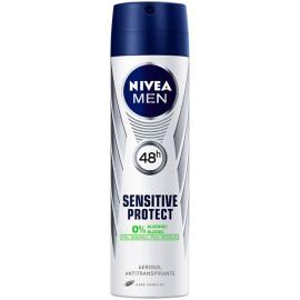 Desodorante Nivea aerossol  for men sensitive 150ml