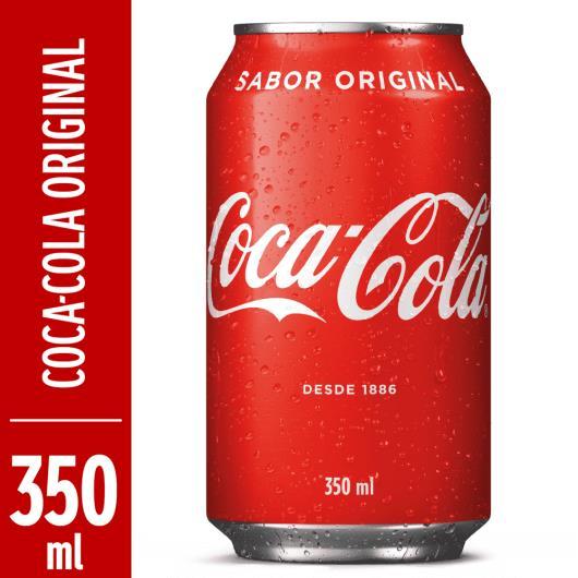Refrigerante Coca Cola Tradicional  lata 350ml - Imagem em destaque