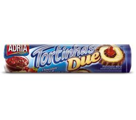 Biscoito Adria Tortinha due sabor chocolate com geléia frutas 160g