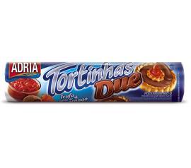 Biscoito Adria Tortinha due trufa e geléia com morango 160g