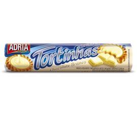 Biscoito Adria Tortinha sabor chocolate branco 160g