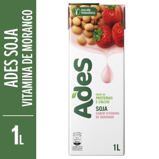 Bebida de soja Ades shake sabor morango 1L - Imagem em destaque