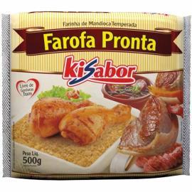 Farofa pronta Kisabor temperada 500g
