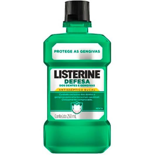 Anti-séptico Listerine defesa dos dentes e gengivas 250ml - Imagem em destaque