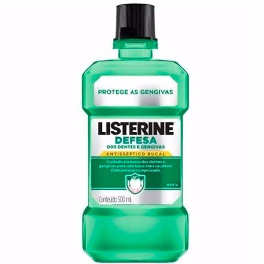 Anti-séptico Listerine defesa dos dentes e gengivas 500ml - Imagem em destaque