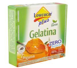 Gelatina em pó Stevia Plus sabor tangerina zero açúcar 10g