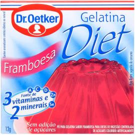 Gelatina em pó Dr. Oetker sabor framboesa diet 12g