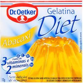 Gelatina em pó Dr. Oetker diet sabor abacaxi 12g