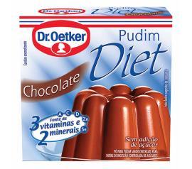 Mistura em pó para pudim diet Oetker sabor chocolate 30g