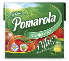 Molho de tomate azeite e manjericão Pomarola 520g