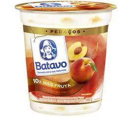 Iogurte pedaços de pêssgo Batavo 500g