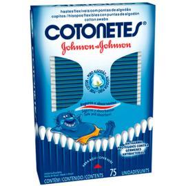 Cotonete Johnson's caixa com 75 unidades