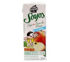 Bebida de soja Soyos Turma da Mônica sabor maçã 200ml