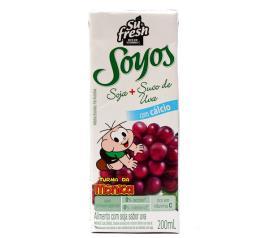 Bebida de soja Soyos Turma da Mônica sabor uva 200ml