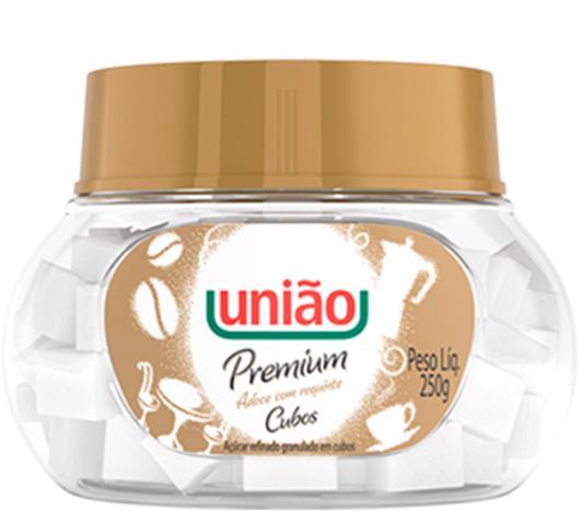 Açúcar União refinado granulado cubos premium 250g - Imagem em destaque