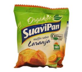 Muffin orgânico sabor laranja Suavipan 40g