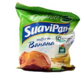 Muffin orgânico sabor banana Suavipan 40g
