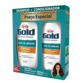 Shampoo 200ml + Condicionador 300ml Niely Gold