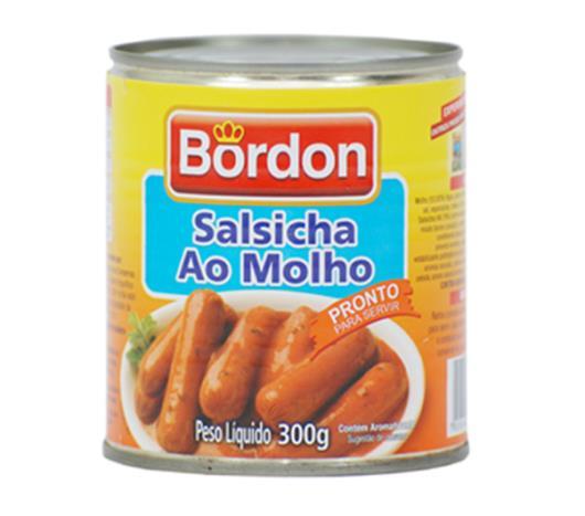 Salsicha Bordon ao molho lata 300g - Imagem em destaque
