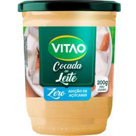 Cocada de leite Vitao Zero Açúcar 200g