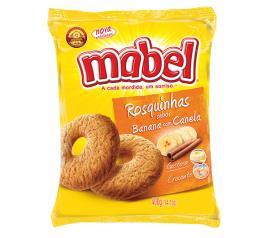 Biscoito rosca de banana com canela Mabel 400g
