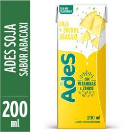 Bebida de soja Ades sabor abacaxi 200ml
