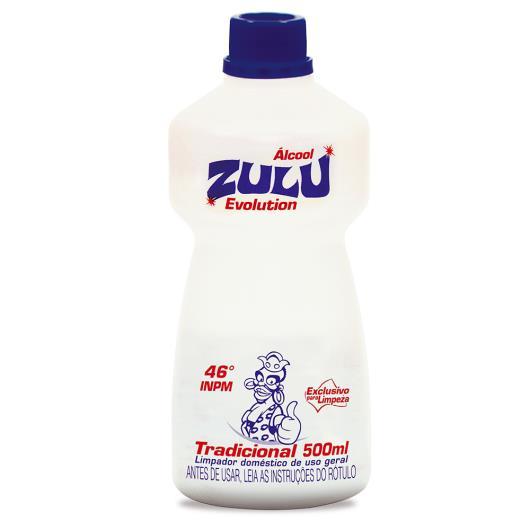 Álcool Zulu Evolution Tradicional 500ml - Imagem em destaque