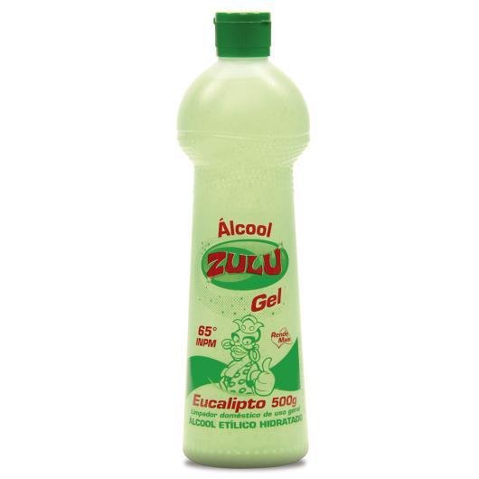 Álcool Zulu gel eucalipto 500ml - Imagem em destaque