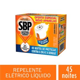 Repelente SBP Elétrico Líquido 45 Noites Aparelho e Refil 35 ml